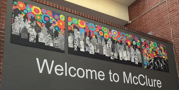 Welcome to McClure mural
